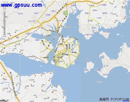厦门岛4km比例尺地图 面积很小