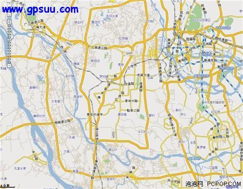 广州主要道路地图